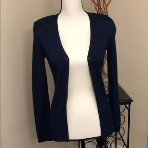 Barney's New York Co-Op Navy Blue Cardigan. Small